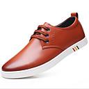 halpa Miesten Oxford-kengät-Miesten kengät PU Kevät / Syksy Comfort Oxford-kengät Musta / Ruskea / Punainen