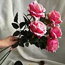 זול פרחים מלאכותיים-פרחים מלאכותיים 5 ענף חתונה / סגנון מינימליסטי ורדים פרחים לשולחן