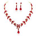 זול סטים של תכשיטים-בגדי ריקוד נשים סט תכשיטים - טיפה מתוק, אופנתי לִכלוֹל סטי תכשיטי כלה לבן / אדום / כחול עבור חתונה / Party