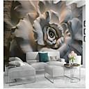 billige Vegglamper-Blomstret Art Deco 3D Hjem Dekor Klassisk Moderne Tapetsering, Lerret Materiale selvklebende nødvendig Veggmaleri, Tapet