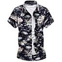 cheap Men's Rings-Men's Shirt - Floral Vintage Style