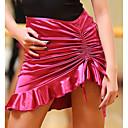 זול הלבשה לריקודים לטיניים-ריקוד לטיני חלקים תחתונים בגדי ריקוד נשים הצגה פוליאסטר משי קרח סלסולים טבעי חצאיות