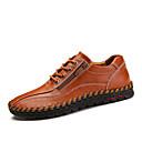 cheap Men's Sneakers-Men's Nappa Leather / Cowhide Spring / Fall Comfort Sneakers Walking Shoes Orange / Brown / Blue