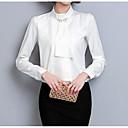 hesapli Moda Küpeler-Kadın's Dik Yaka İnce - Gömlek Solid Temel / Yaz
