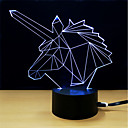 זול תאורה מודרנית-1set LED לילה אור / אור תלת ממדי שנה DC מופעל / USB החלפת צבעים / יצירתי / קישוט 5 V