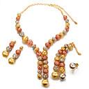 preiswerte Schmuckset-Damen Schmuck-Set - Perle, vergoldet Modisch, Erklärung Einschließen Gold Für Hochzeit / Party / Ohrringe