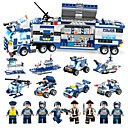 cheap Building Blocks-BEIQI Building Blocks 762 pcs Military Police Stress and Anxiety Relief Parent-Child Interaction Classic Military Vehicle Police car Boys' Girls' Toy Gift