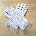 billige Børn hovedbeklædning-Blonde Håndledslængde Handske Blomsterpigehandsker Med Broderi