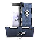 זול מגנים לטלפון & מגני מסך-מגן עבור Sony Xperia XA1 Ultra עמיד בזעזועים מחזיק טבעת מסתובב360מעלות כיסוי אחורי צבע אחיד קשיח PC ל Sony Xperia XA1 Ultra