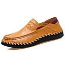 tanie Męskie mokasyny-Męskie Komfortowe buty Skóra nappa / Skóra bydlęca Wiosna / Jesień Mokasyny i buty wsuwane Spacery Czarny / Jasnobrązowy / Ciemnobrązowy