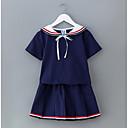זול שמלות לבנות-שמלה שרוולים קצרים אחיד פשוט / פעיל בנות ילדים / כותנה