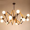 رخيصةأون حنفيات الدوش-LightMyself™ أضواء معلقة ضوء محيط طلاء ملون معدن الخشب / الخيزران 110-120V / 220-240V أبيض دافئ / أبيض يشمل لمبات / E26 / E27