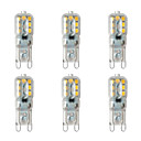 abordables Tiras de Luces LED-BRELONG® 6pcs 2W 200lm G9 Luces LED de Doble Pin 14 Cuentas LED SMD 2835 Blanco Cálido Blanco 220-240V