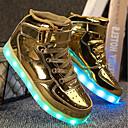 olcso Kislány cipők-Fiú / Lány Cipő PU Tavasz / Ősz Kényelmes / Világító cipők Tornacipők Gyalogló Fűző / Tépőzár / LED mert Arany / Ezüst / Rózsaszín