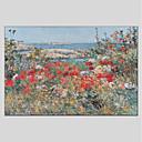 baratos Pinturas Paisagens-Pintura a Óleo Pintados à mão - Paisagem Floral / Botânico Modern Tela de pintura