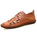 hesapli Erkek Oxfordları-Erkek Ayakkabı Nappa Leather Sonbahar / İlkbahar yaz Oxford Modeli Günlük / Kumsal için Siyah / Açık Kahverengi / Koyu Kahverengi
