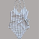 ieftine Brățări la Modă-Pentru femei O Piesă - De Bază, Dungi Halter Boy Leg Τρίγωνο