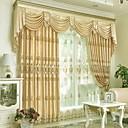 preiswerte Gardinen-Gardinen Shades Wohnzimmer Blumen Baumwolle / Polyester Stickerei