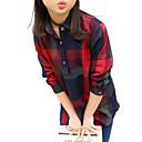 preiswerte Kleider für Mädchen-Kinder Mädchen Streifen Schultaschen / Ausgehen Verziert Langarm Baumwolle Hemd