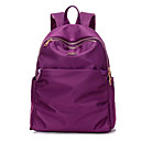 cheap Backpacks-Women's Bags Nylon Backpack Zipper Blue / Black / Purple