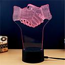 preiswerte Wand-Sticker-3D Nachtlicht Wechsel USB Stress und Angst Relief / Farbwechsel / Kreativ 5 V 3D