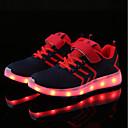 זול נעלי ילדים-בנים נעליים סריגה / טול קיץ נוחות / נעליים זוהרות נעלי ספורט LED ל כחול כהה / שחור לבן / כחול ים