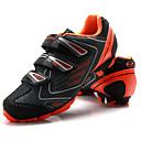 tanie Obuwie rowerowe-Tiebao® Buty na rower górski Włókno węglowe Antypoślizgowy, Zdatny do noszenia, Oddychalność Kolarstwo Czarny / pomarańczowy Męskie / Haczyk