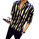 זול חולצות לגברים-פסים צווארון עומד(סיני) חולצה - בגדי ריקוד גברים