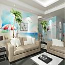 abordables Caja de TV-Mural Lona Revestimiento de pared - adhesiva requerida Floral Árboles y Hojas 3D