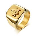 ieftine Inele Bărbați-Bărbați Geometric Band Ring - inox Modă 9 / 10 / 11 / 12 Auriu Pentru Zilnic Oficial