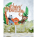 cheap Cake Toppers-Cake Topper Birthday Animal Acryic / Polyester Birthday with Acrylic 1pcs OPP