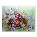 ieftine Picturi în Ulei-stildecor® mână modernă a pictat o grămadă de flori de ulei pe panza pentru arta pereților pe panza împachetată