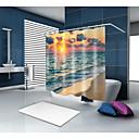halpa Suihkuverhot-Suihkuverhot ja koukut Nykyaikainen Välimeren Polyesteri Moderni Uutuudet Tehty koneellisesti Vedenkestävä Kylpyhuone