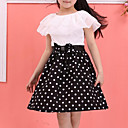 cheap Girls' Dresses-Girl's Polka Dot Dress Winter Spring Fall Sleeveless Dot Black Red Blue