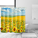 cheap Shower Curtains-Shower Curtains & Hooks Casual Country Polyester Solid Colored Contemporary Machine Made Waterproof Bathroom