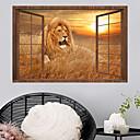 baratos Adesivos de Parede-Decalque Autocolantes de Parede Decorativos - Etiquetas de parede de animal Animais 3D Reposicionável Removível