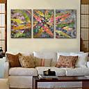 זול שעוני קיר מוטבעים בציורי קנבס-סגנון מודרני כפרי בַּד דמוי קוביה בבית,סוללה
