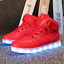 preiswerte Kleidersets für Mädchen-Jungen / Mädchen Schuhe PU Sommer / Herbst Leuchtende LED-Schuhe Sneakers LED für Kinder Schwarz / Silber / Rot