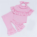ieftine Set Îmbrăcăminte Bebeluși-Bebelus Fete Dungi Manșon scurt Set Îmbrăcăminte