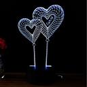 tanie Nowoczesne oświetlenie-3D Nightlight Zmiana USB Przeciwe stresowi i niepokojom / Zmieniająca Kolor / Kreatywne 5 V 3D