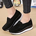 cheap Women's Slip-Ons & Loafers-Women's Shoes Nubuck leather Spring / Fall Comfort Loafers & Slip-Ons Creepers Black / Gray / Red