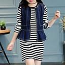 tanie Topy dla dziewczynek-Dzieci Dla dziewczynek Moda miejska Prążki Długi rękaw Komplet odzieży