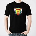 abordables Pelucas Cosplay-Camisetas LED  Iluminación / Diseños de Moda / Electroluminiscencia Puro algodón Fiesta / Casual 2 Baterías AAA