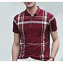 baratos Moda Íntima Exótica para Homens-Homens Polo Listrado Colarinho de Camisa / Manga Curta