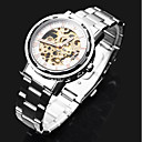 cheap Chandeliers-ASJ Men's Dress Watch Mechanical Watch Automatic self-winding Hollow Engraving Stainless Steel Band Analog Luxury Silver - Silver