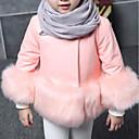 preiswerte Kleidersets für Mädchen-Kinder Mädchen Solide Langarm Kunst-Pelz / PU Jacke & Mantel