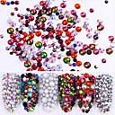 billige Nail Glitter-6 pcs Diamant / Crystal / Rhinestone Style / Krystal / Rhinsten Negle kunst Manicure Pedicure Bryllup / Fest / Hverdag Kunstnerisk / Retro / Glitrende