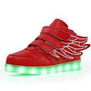 voordelige Meisjesschoenen-Jongens / Meisjes Schoenen PU Herfst / Winter Oplichtende schoenen Sneakers Wandelen Gesp / LED voor Kinderen Roze / Zwart / groen / Marine Blauw