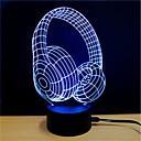 זול תאורה מודרנית-אור תלת ממדי שנה USB הפגת מתחים וחרדה / החלפת צבעים / יצירתי 5 V 3D