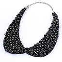 preiswerte Schmuckset-Kragen - Tropfen Erklärung, Elegant Schwarz 35 cm Modische Halsketten Schmuck Für Hochzeit, Party